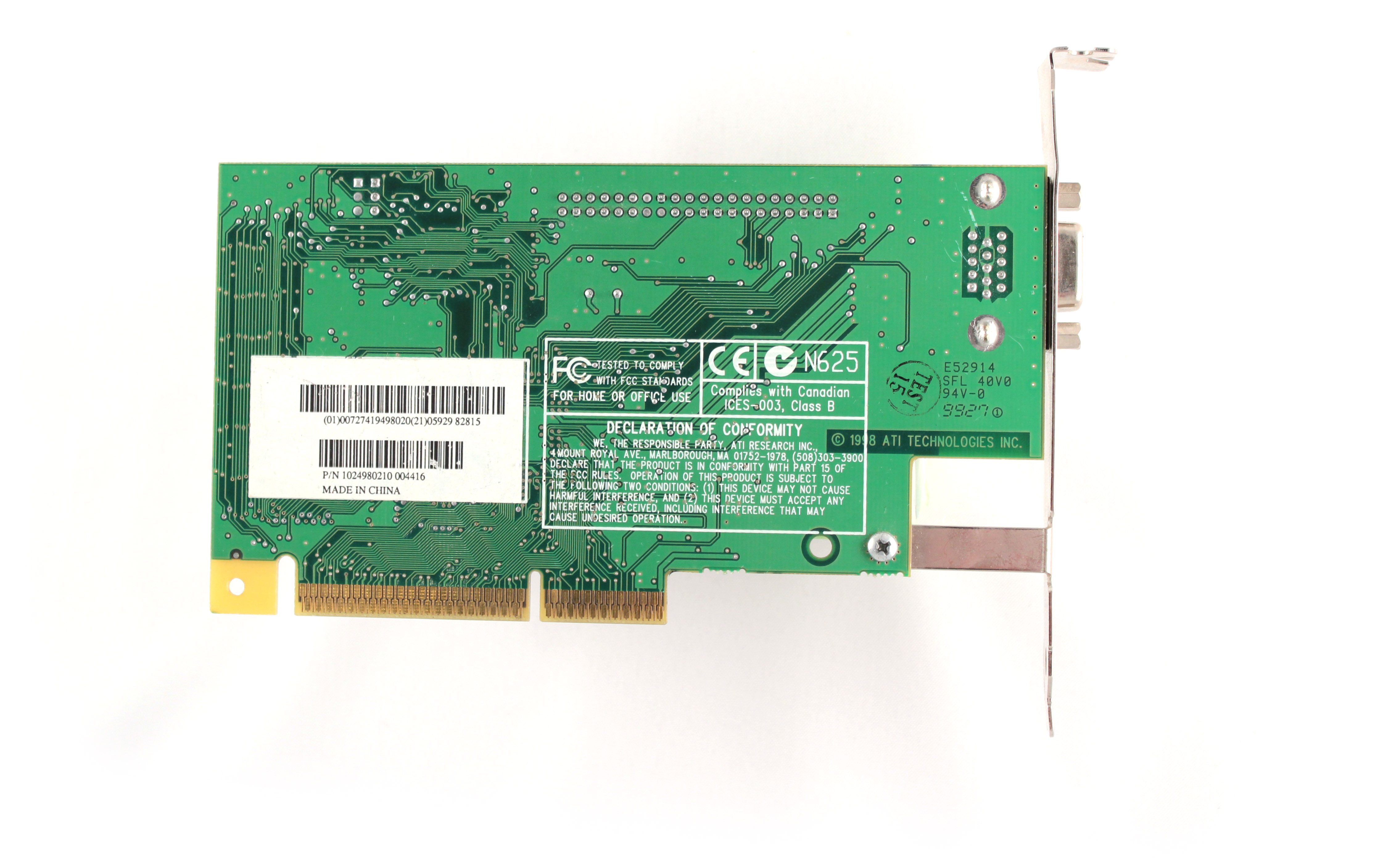 vga совместимый видеоконтротроллер rage pro turbo pci
