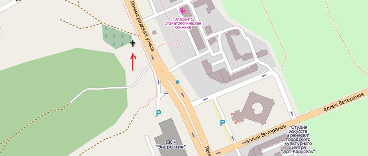 карта до места проведения дня студента